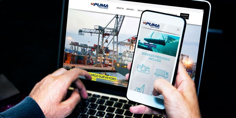 Diseño de Página Web para Puma Maritime Services