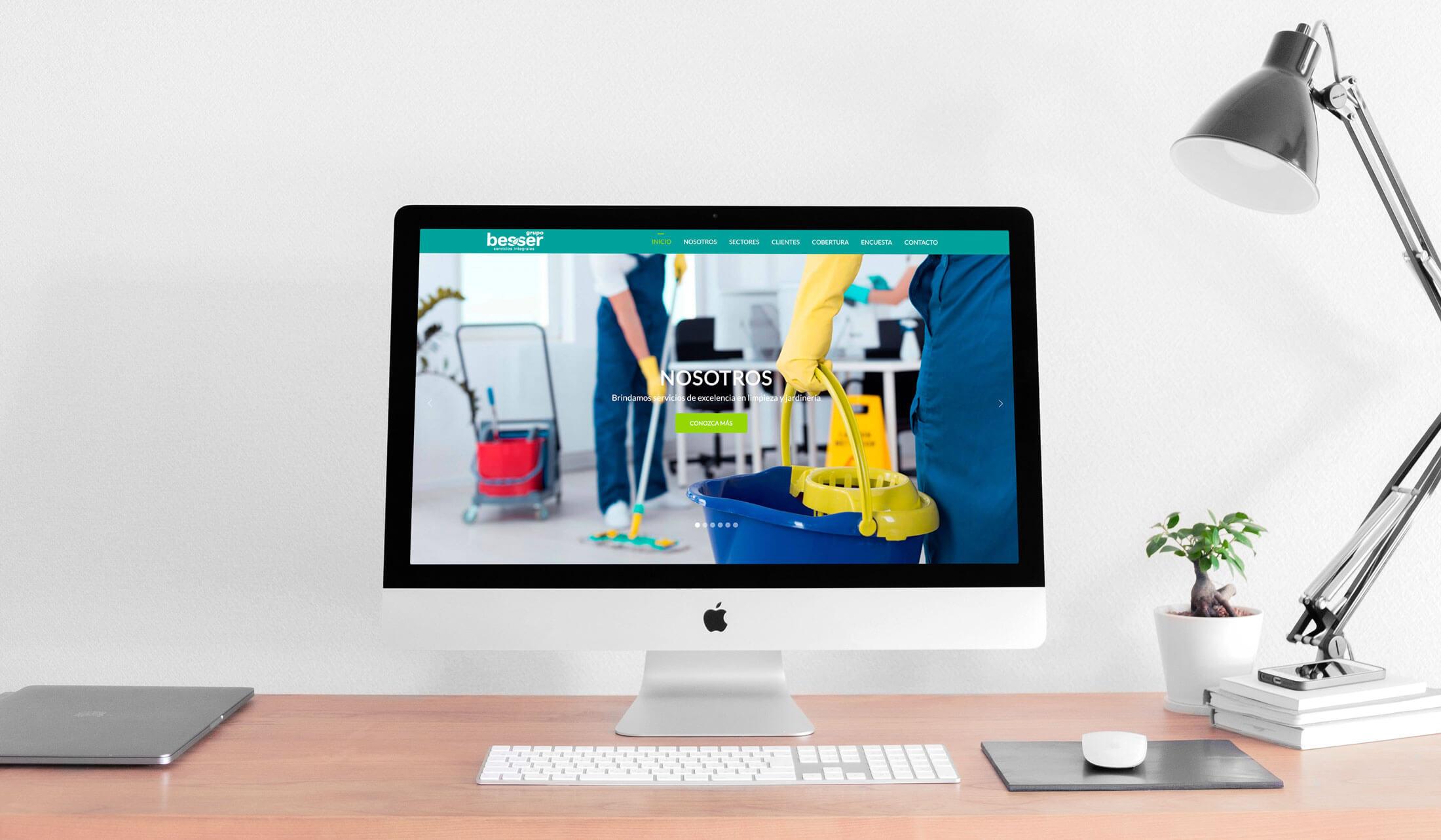 Diseño de Página Web Servicios Limpieza Besser - Lilian Feres