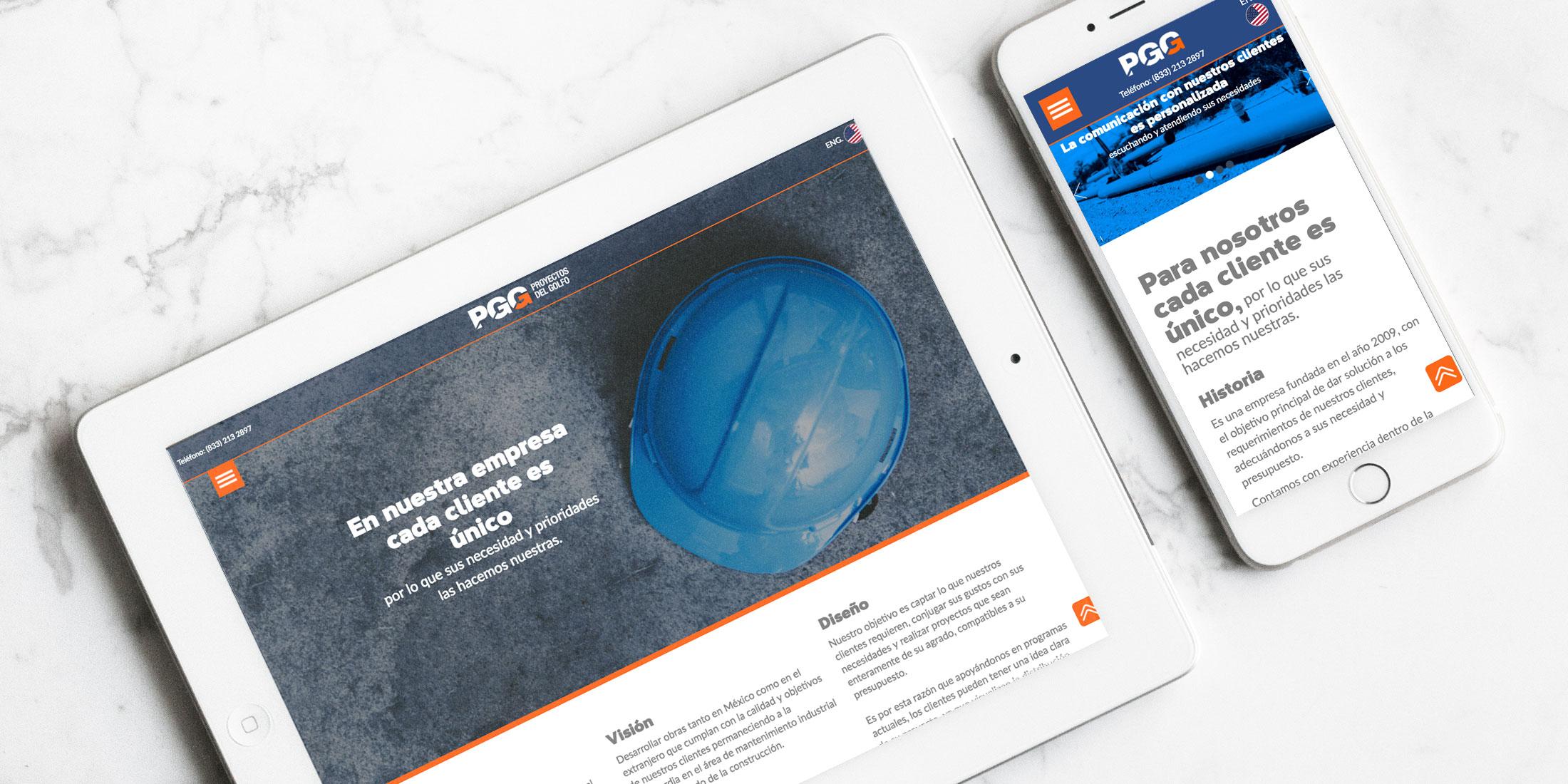 Diseño Web Constructora Tampico Proyectos del Golfo - Lilian Feres