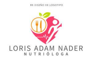 Re-Diseño de Logotipo Loris Adam Nader Nutrióloga