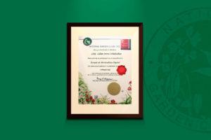 Recibí Reconocimiento del National Garden Clubs INC