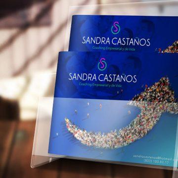 Diseño de logotipo, tarjetas de presentación y redes sociales para Sandra Castaños
