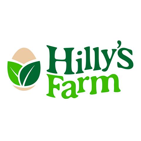 Diseño de Logotipo marca de huevos de libre pastoreo Hillys Farm