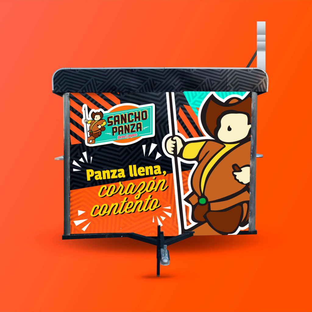 Diseño de food truck para Sancho Panza