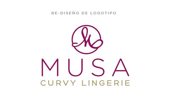 Re-Diseño de Logotipo y Manual Básico de Logotipo Musa Curvy Lingerie