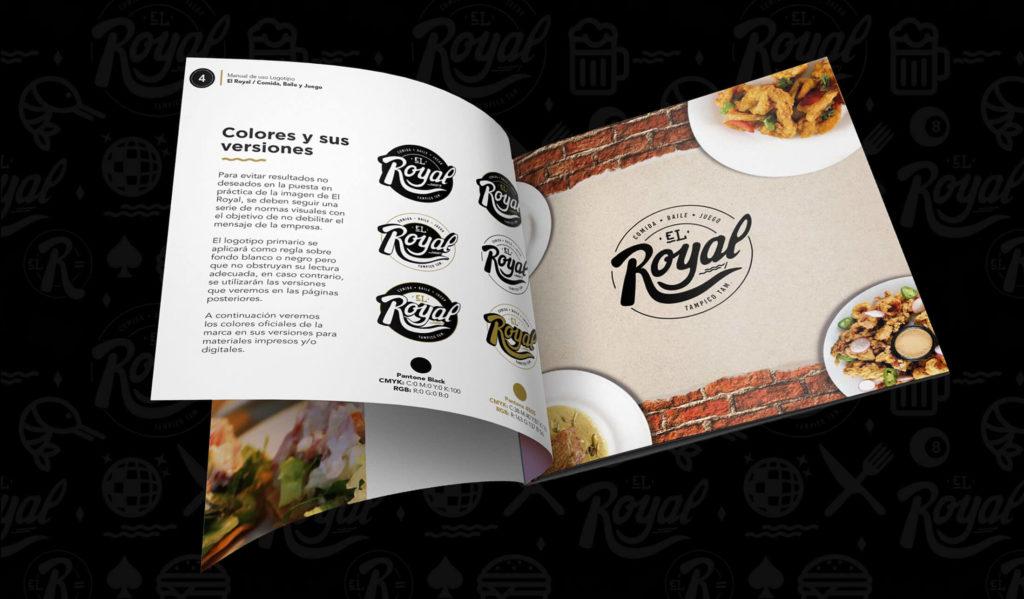 Diseño de Logotipo y Manual de Logotipo para Restaurante El Royal Tampico