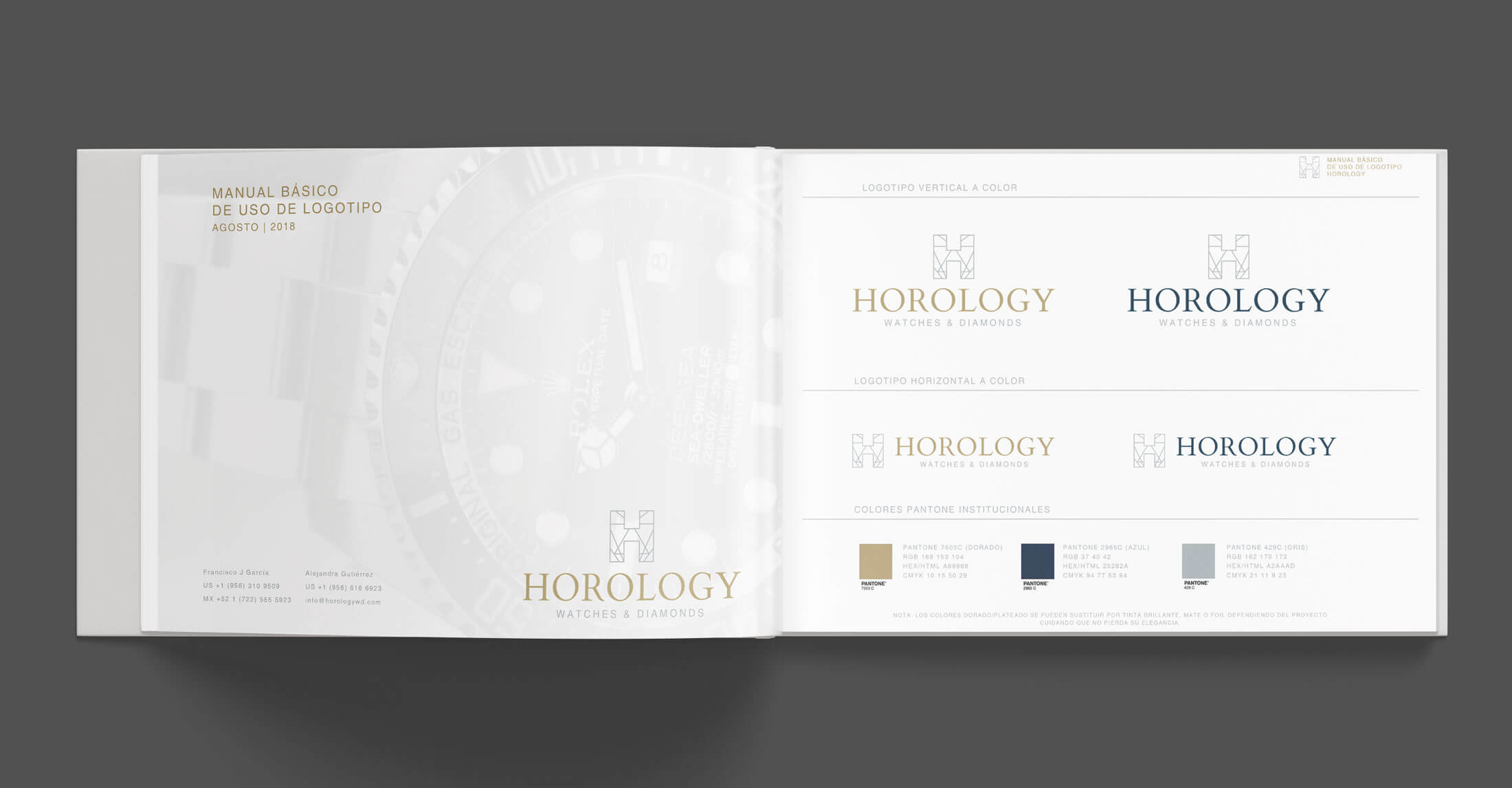 Diseño de Logotipo y Manual de Imagen para Joyería Horology