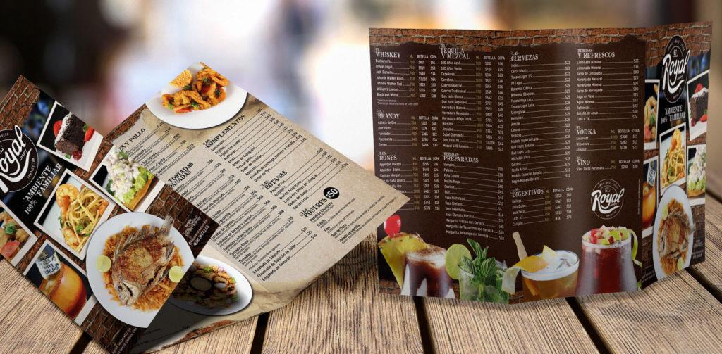 Diseño de Menú para El Royal Restaurante