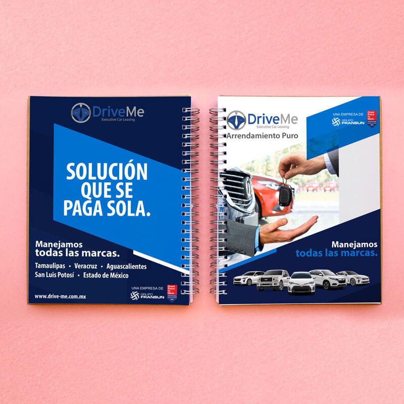Diseño de publicidad - Libreta Grupo Fransun - Lilian Feres