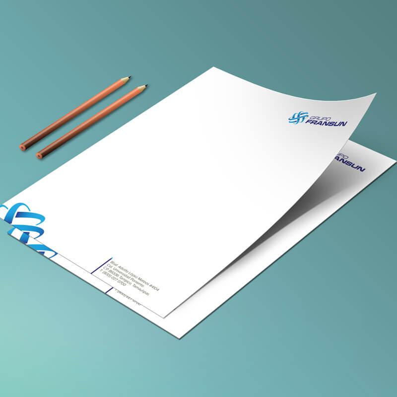Diseño de publicidad - Hoja membretada Grupo Fransun - Lilian Feres
