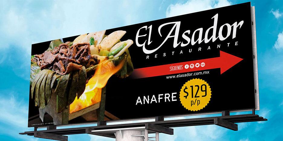 Diseño Gráfico, Publicidad, Diseño Web El Asador Restaurante - Lilián Féres Agencia Creativa