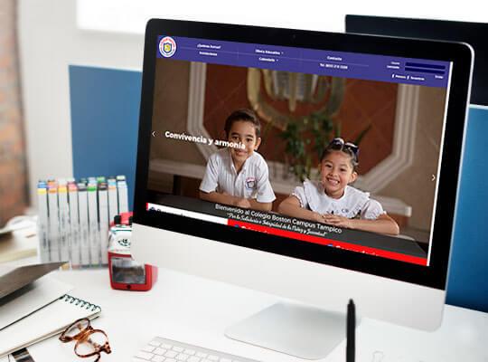 Re-Diseño Página Web Colegio Boston