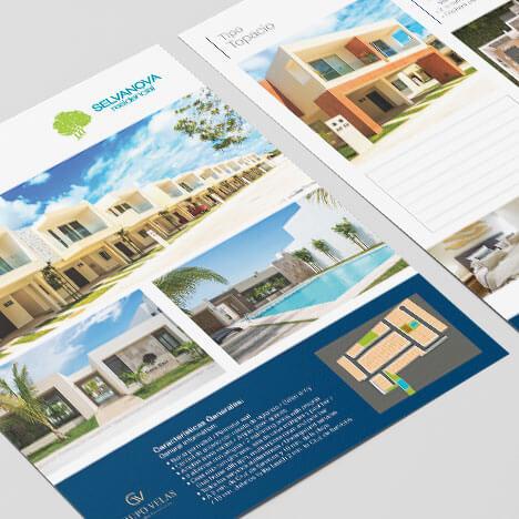 Diseño de logotipo residencial Selvanova Grupo Velas Playa del Carmen