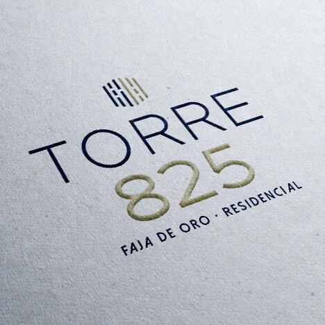 Diseño de logotipo residencial Torre 825 Grupo Velas Tampico