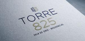 Diseño de logotipo y diseño de publicidad Torre 825