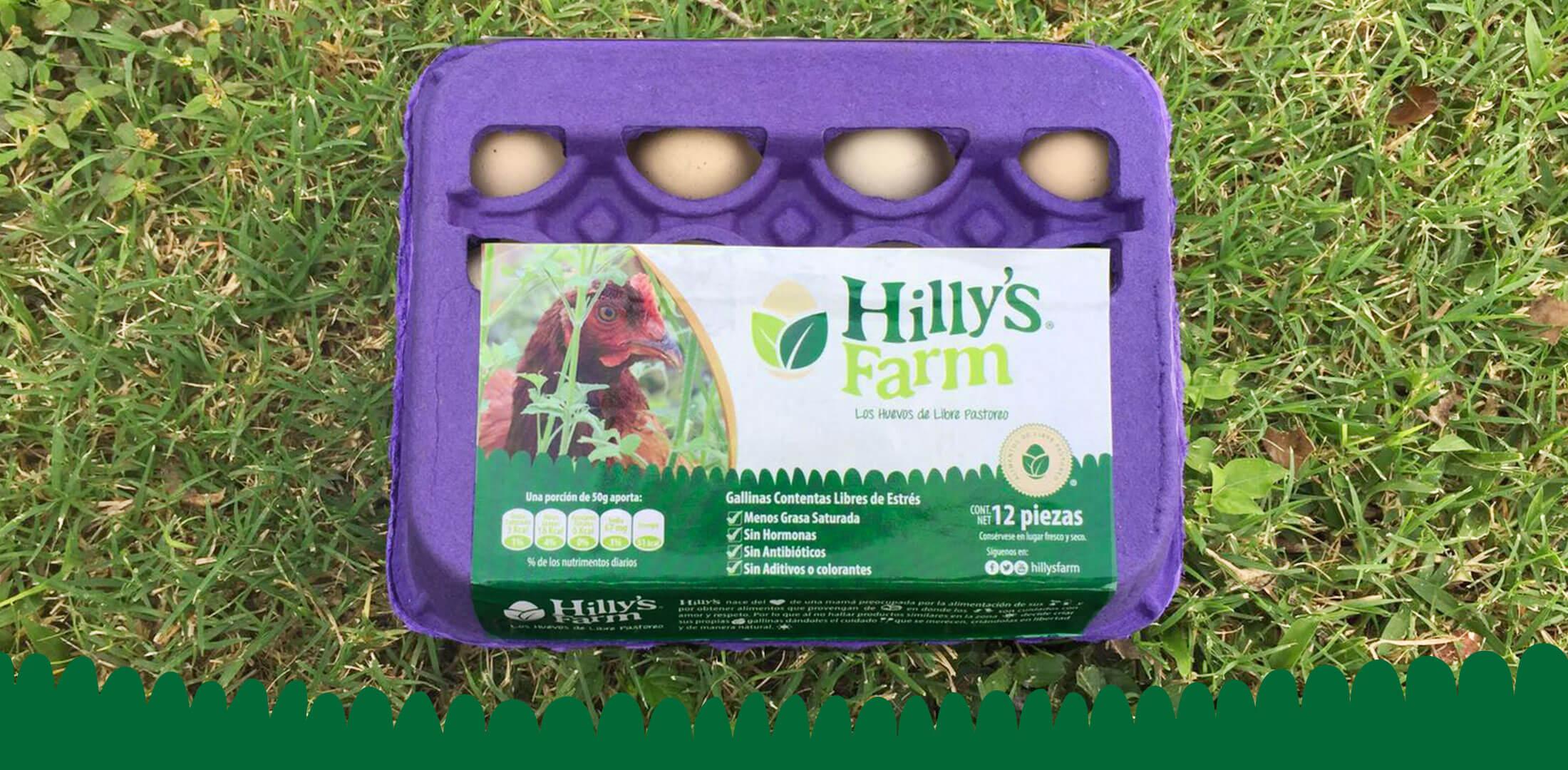 Diseño de Etiqueta para Empaque de Huevos de Libre Pastoreo Hillys Farm - Lilian Feres
