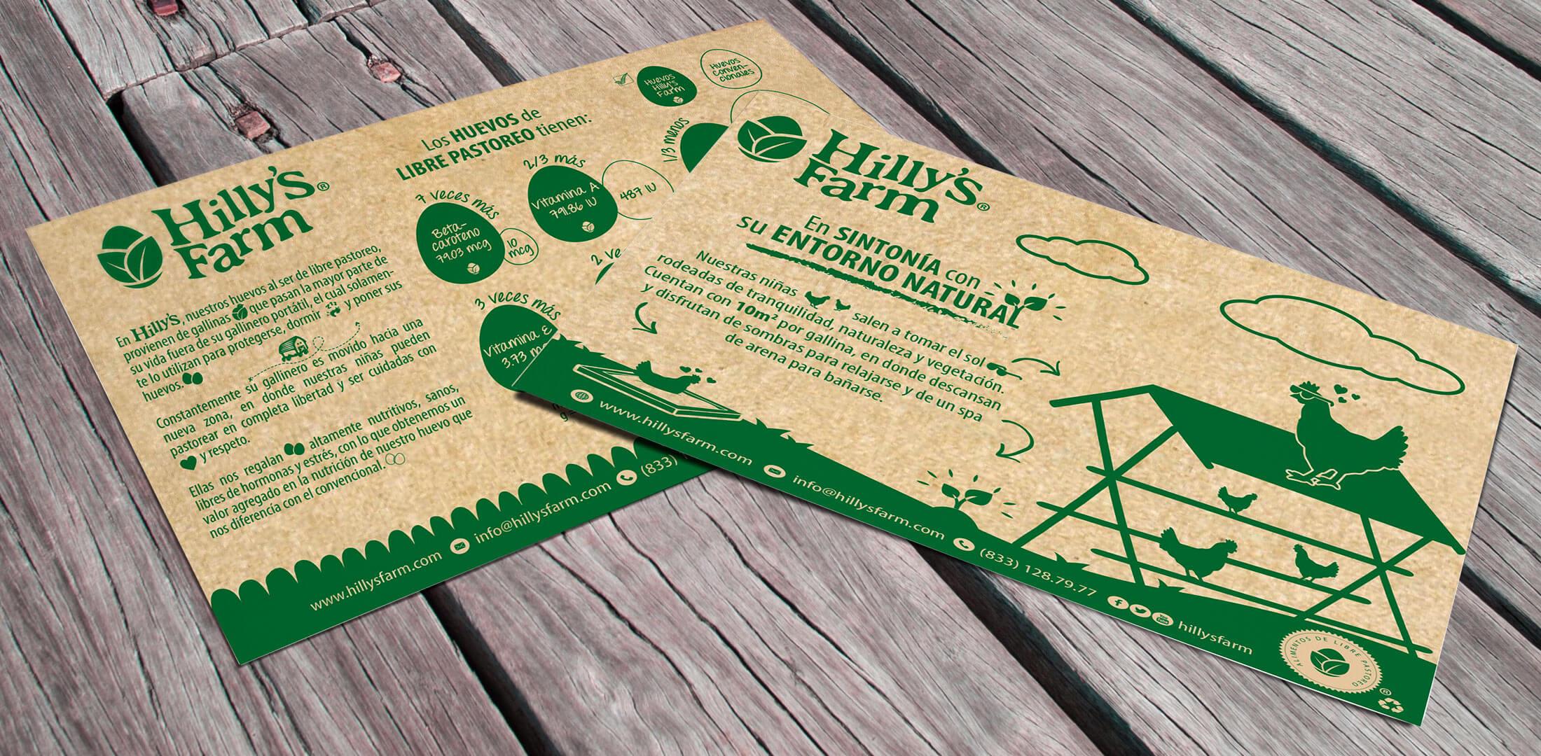 Diseño de Volantes para Huevos de Libre Pastoreo Hillys Farm - Lilian Feres
