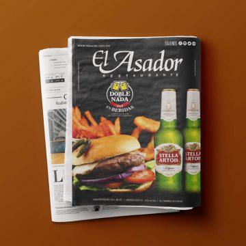 Diseño Publicidad, Diseño Prensa y Diseño Web Restaurante El Asador
