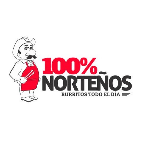 Diseño de Logotipo y Personaje Restaurante Burritos 100% Norteños