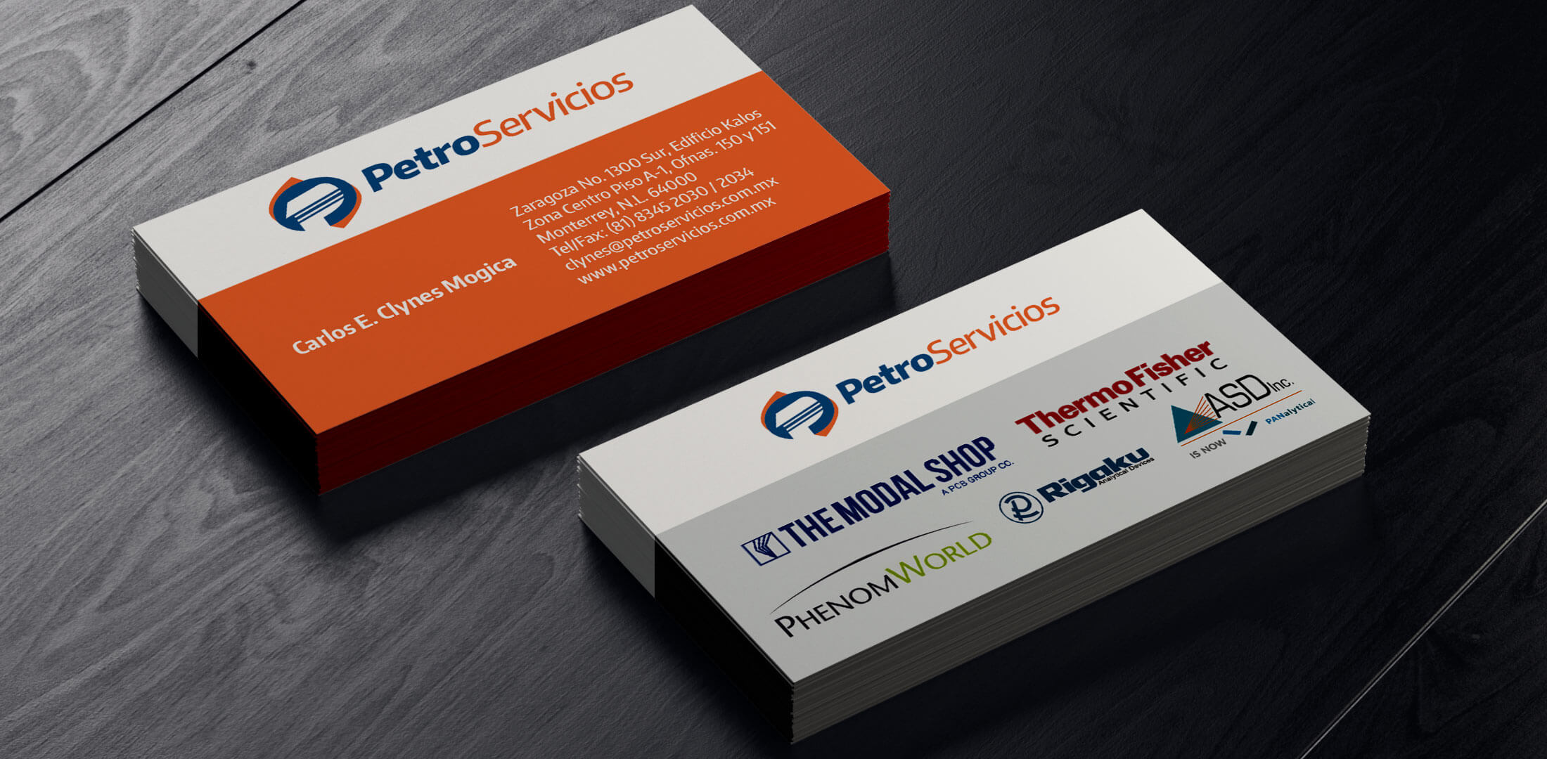 Re-Diseño de Logotipo y diseño de papelería Servicios industriales Petroservicios
