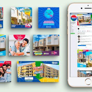 Diseño de logotipos, manejo de redes sociales, publicidad y videos Construcciones Aryve