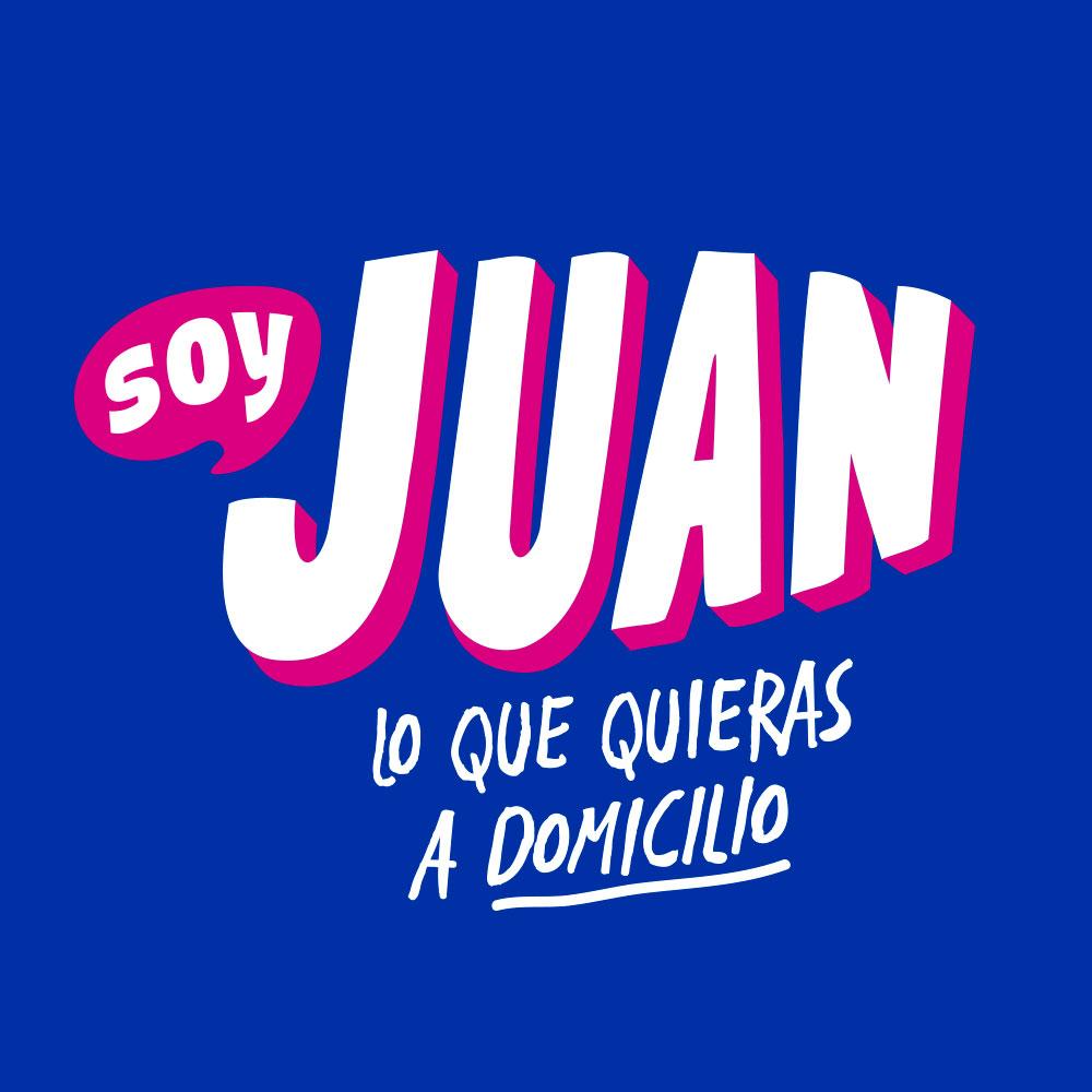 Diseño de Logotipo App soy Juan lo que quieras a domicilio - Lilian Feres Agencia Creativa