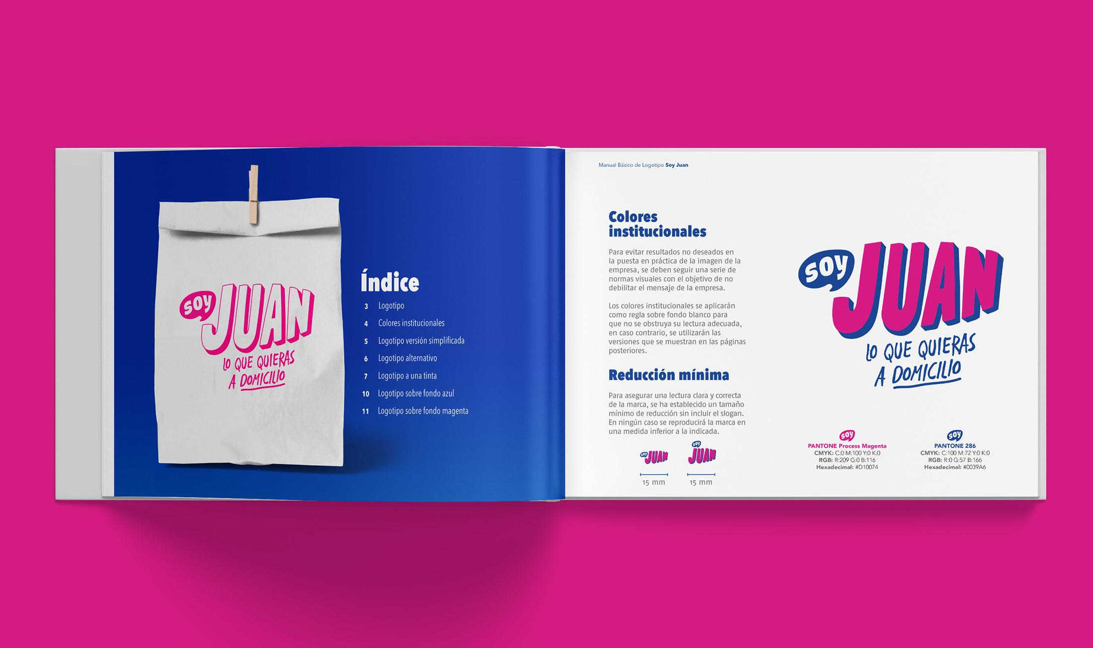 Diseño de Logotipo y Manual de Identidad App soy Juan lo que quieras a domicilio - Lilian Feres Agencia Creativa