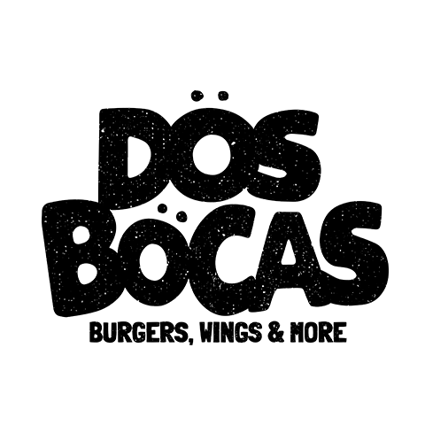 Diseño de Logotipo Dos Bocas Burgers, Wings and more- Lilián Féres Agencia Creativa