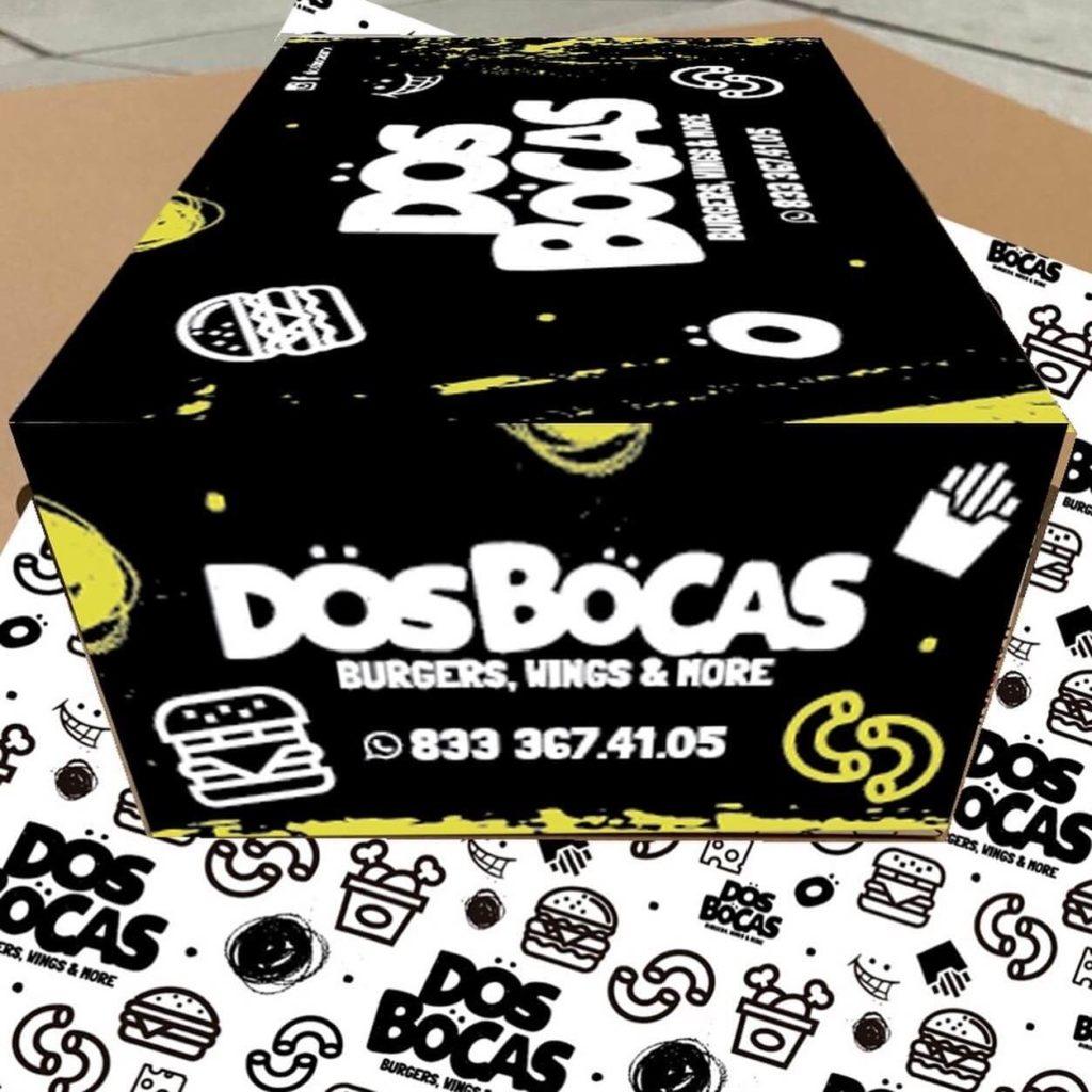 Diseño de Logotipo, Diseño de Empaque Hamburguesas Dos Bocas - diseño bolsa empaque Lilian Feres Agencia Creativa Tampico