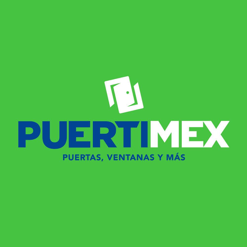 Re-Diseño Logotipo productos puertas Puertimex - Lilián Féres Agencia Creativa