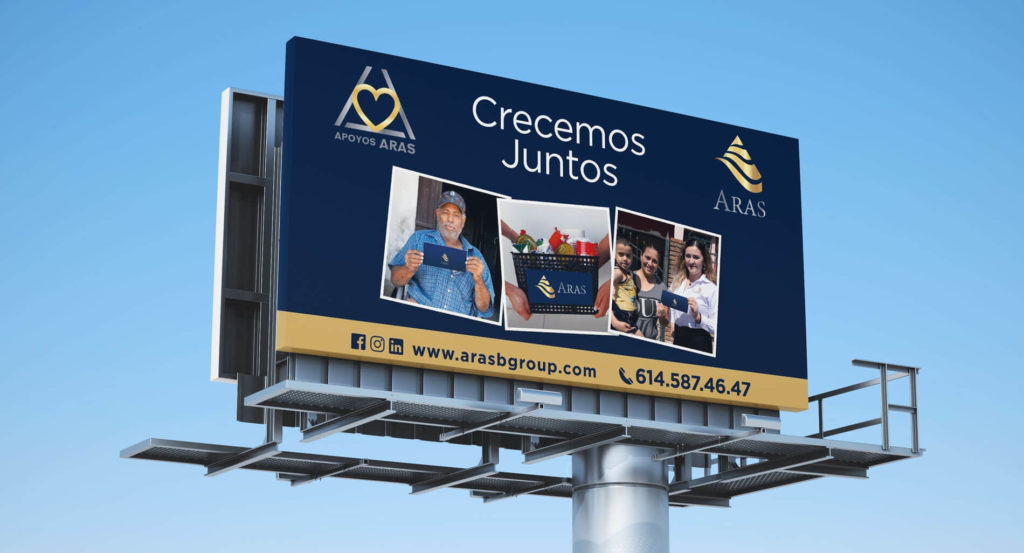 Diseño de panoramico Chihuahua Aras Business Group - Lilián Féres Agencia Creativa