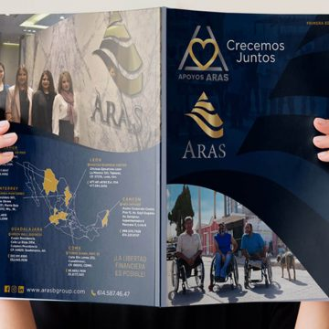 Diseño de Revista Digital e Impresa y Diseño de Panorámico Aras Business Group