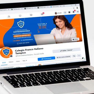 Re-diseño de logotipo y manejo de redes Sociales Colegio Franco Italiano Tampico