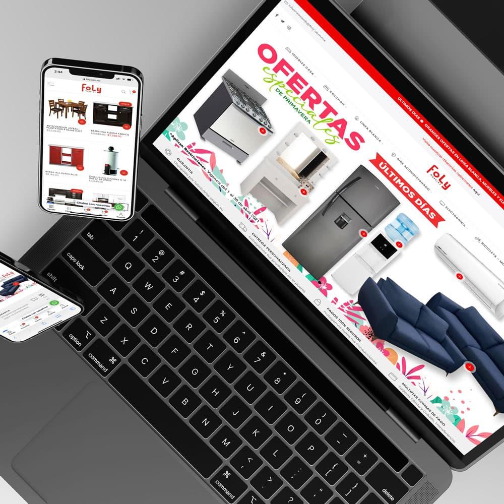 Diseño de Tienda e-Commerce Muebles Foly Tampico Mexico Lilian Feres Agencia Creativa