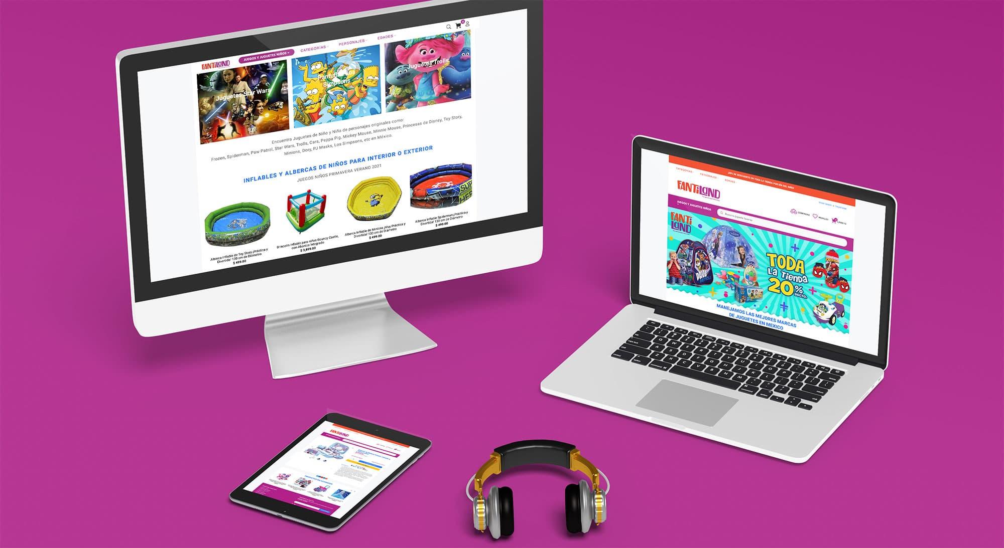 Diseño Desarrollo Tienda Online, Diseño de e-Commerce para tienda de juguetes en San Pedro Garza Garcia, Nuevo Leon, Agencia Creativa Lilian Feres