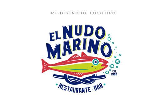 Nuevo Diseño de Logotipo Restaurante Bar El Nudo Marino Altamira Tamaulipas