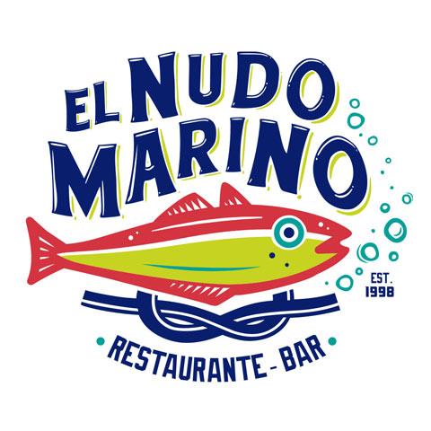 Re-Diseño de Logotipo Restaurante Mariscos, El Nudo Marino, Restaurante Bar, Mexico, Altamira, Tamaulipas Lilian Feres Agencia Creativa
