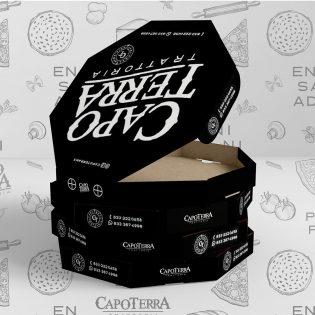 Branding, diseño logotipo, packaging, diseño caja pizza, manejo redes sociales, restaurante italiano, menu, packaging, capoterra, Lilián Féres Agencia Creativa