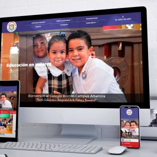 Re-Diseño Página Web Colegio Boston - Lilian Feres