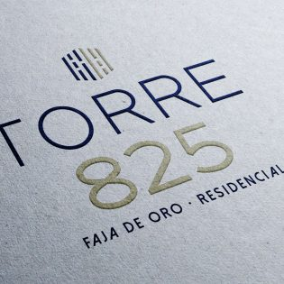 Diseño de Logotipo Departamentos Torre 825 Grupo Velas Tampico