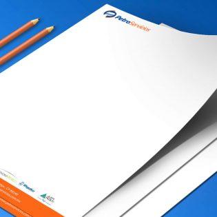 Re-diseño de logotipo y diseño papelería Servicios industriales Petroservicios
