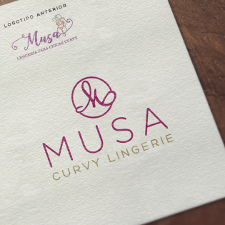 Re-Diseño de Logotipo Lencería Musa Curvy Lingerie